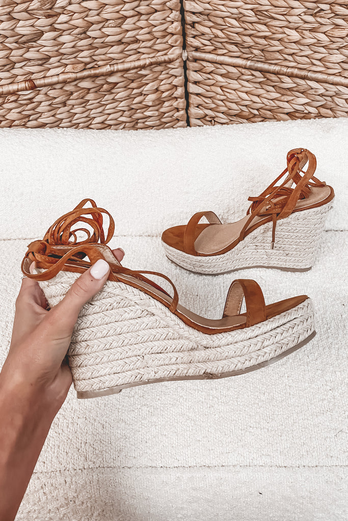 BILLINI Sloane Tan Suede Wedges