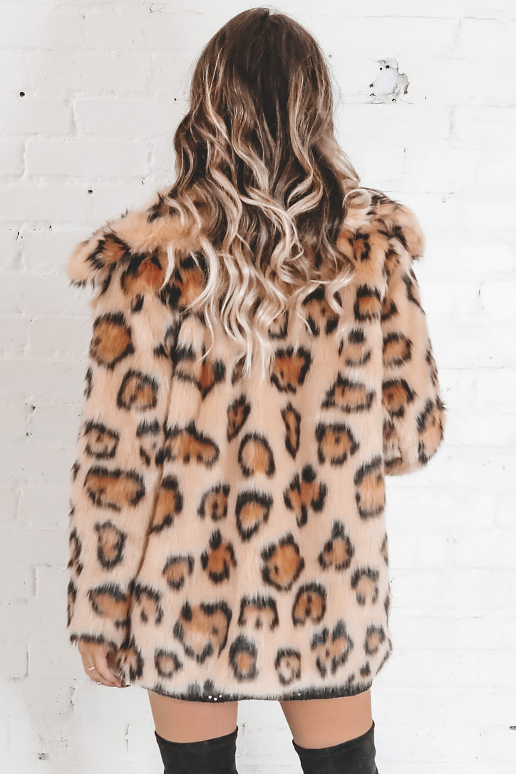 Dreams Run Wild Leopard Fur Coat