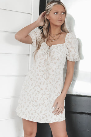 Cold As You Stone Floral Mini Dress