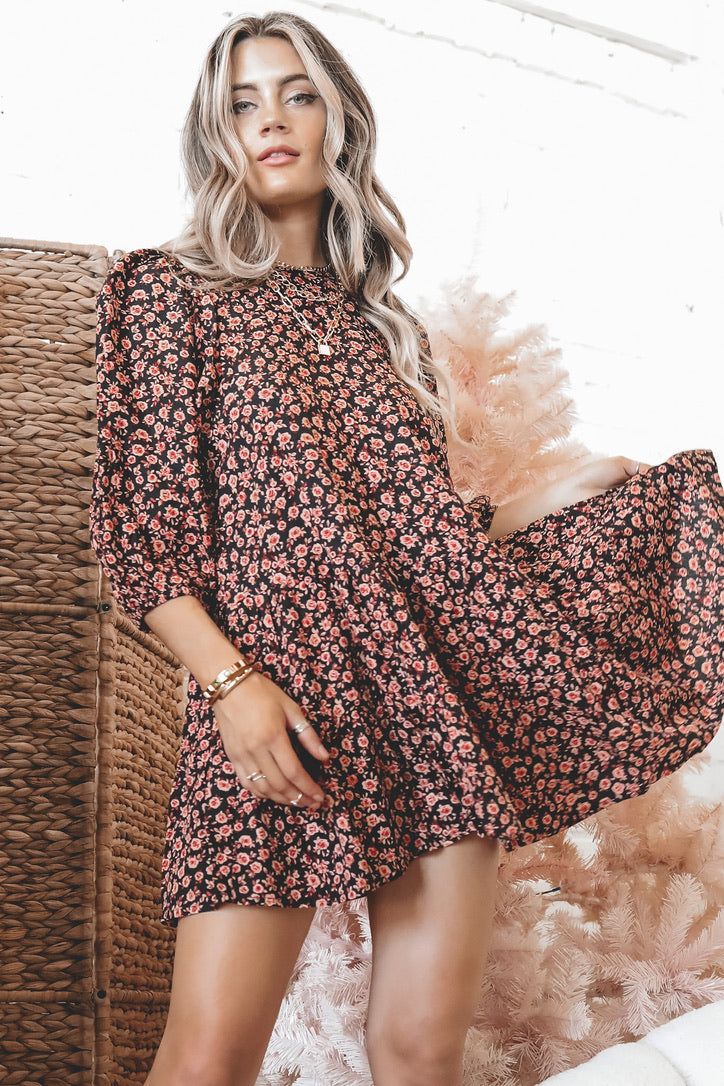 MOTEL Mareta Autumn Blossom Dress