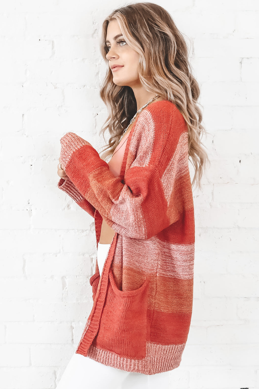 Seasons Change Clay Oversized Cardigan