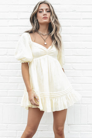 Hey Baby Butter Babydoll Dress