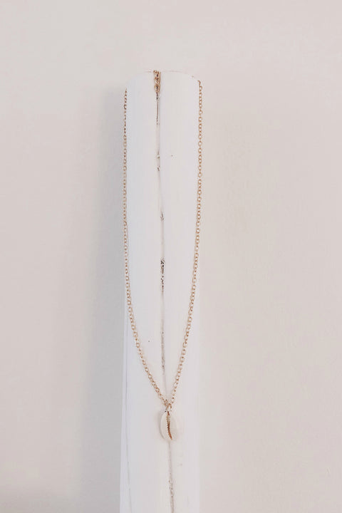 Single Shell Layering Necklace