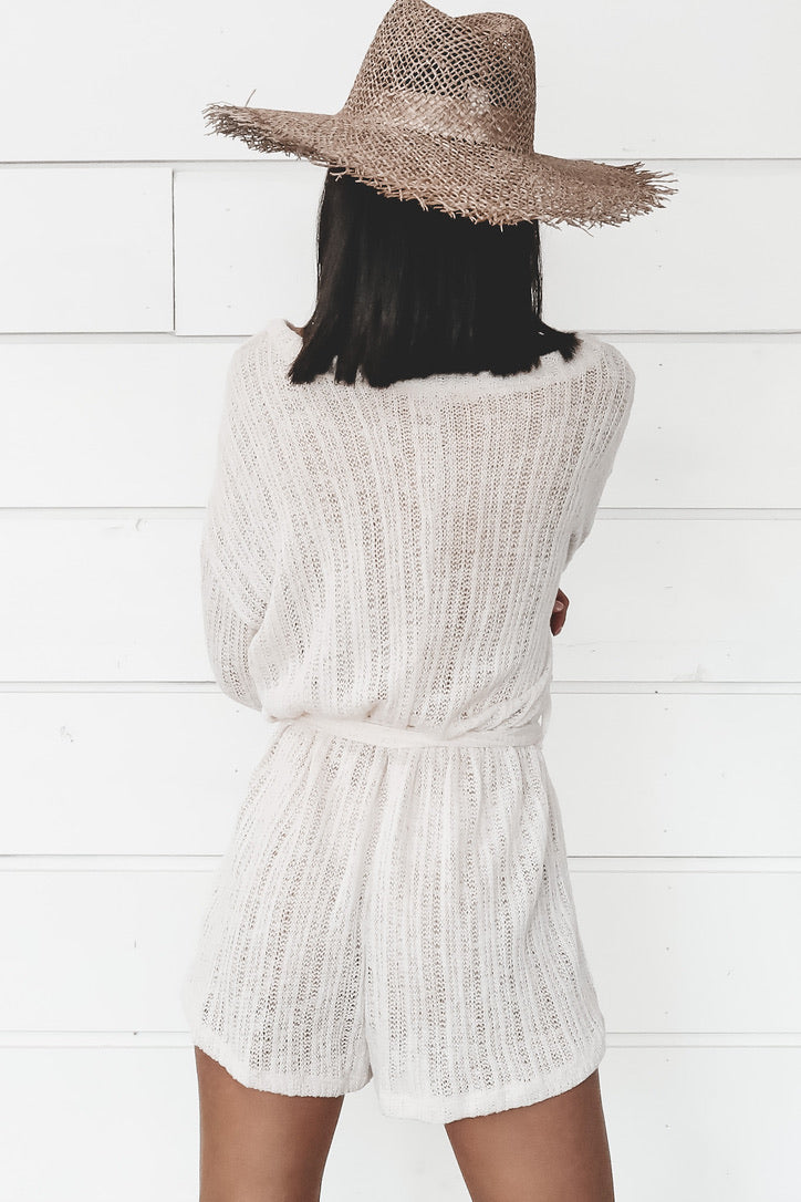 Best Of The Best Cream Knit Romper