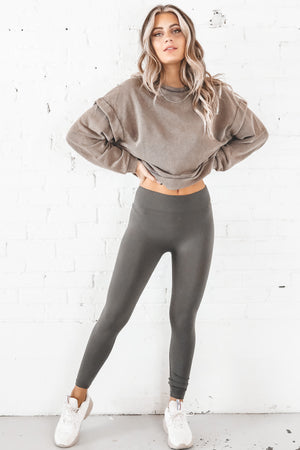 Wake Up From This Dream Charcoal Mineral Washed Top