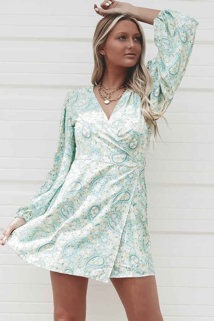 Grove With Me Green Wrap Dress