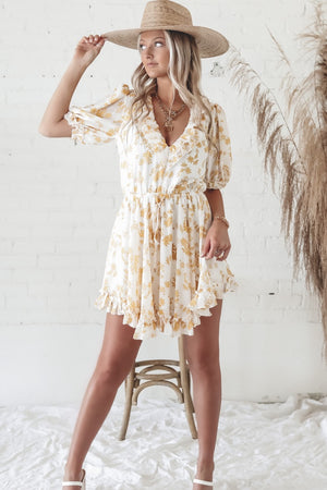 On The Bright Side Of Things Floral Mini Dress