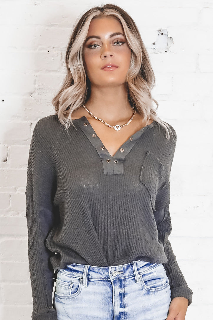 Rewrite The Stars Charcoal Oversized Top