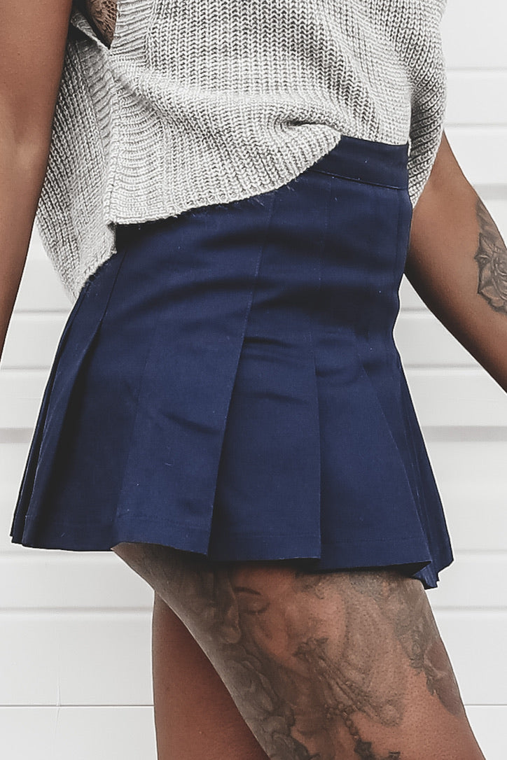 Need To See It Navy Tennis Skort