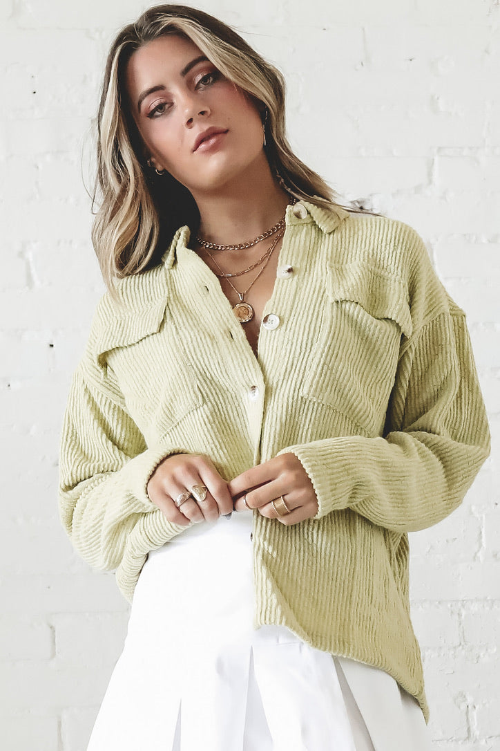 Fruit Basket Kiwi Button Up