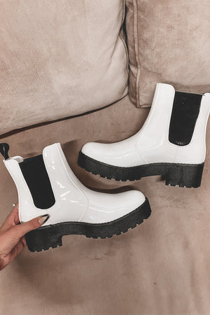 DIRTY LAUNDRY White Margo Boot