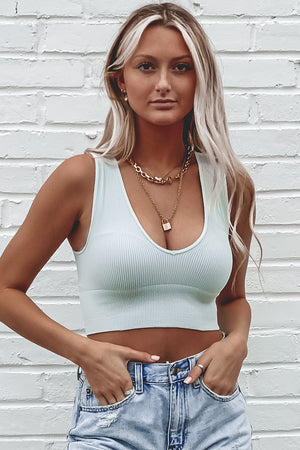 Hey Boy Knit Crop Top