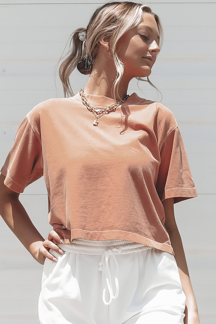 RICHER POORER Relaxed Clay Cropped Tee