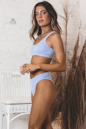 Salty About It Periwinkle Bikini Top