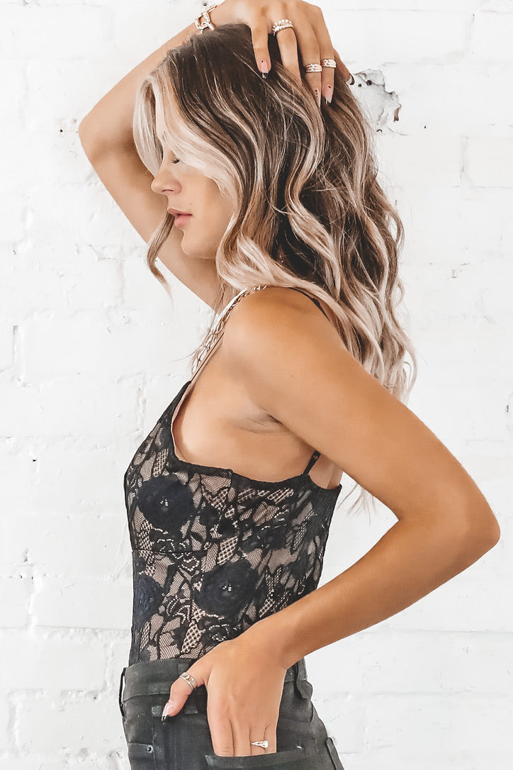 SAGE THE LABEL Steppin Out Lace Bodysuit