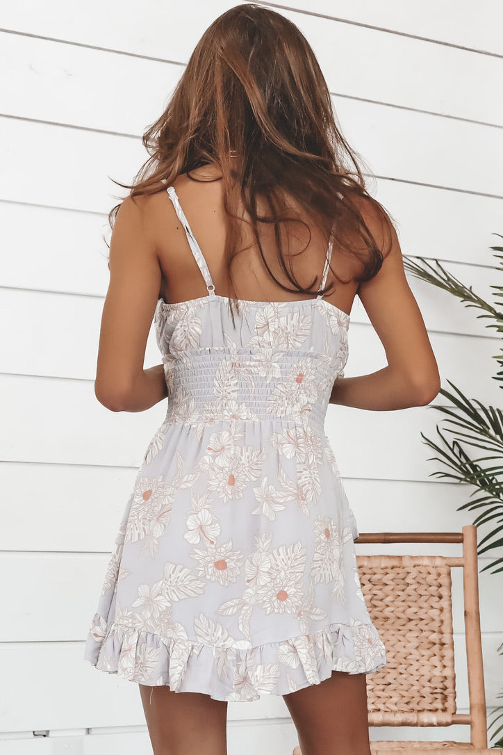 Going With The Flow Floral Ruffle Dress