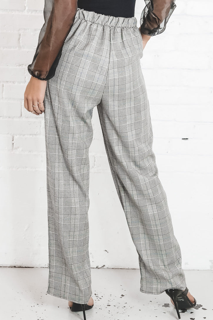 Schools Out Black And Blue Plaid Pants