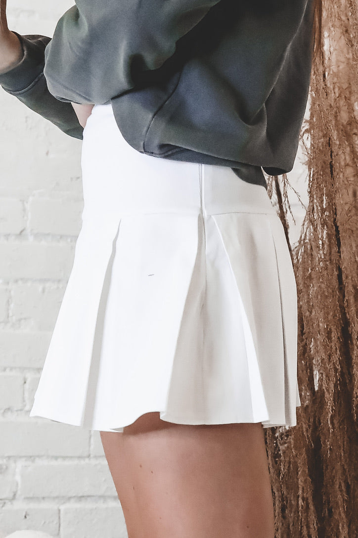 Walk On White Tennis Skirt