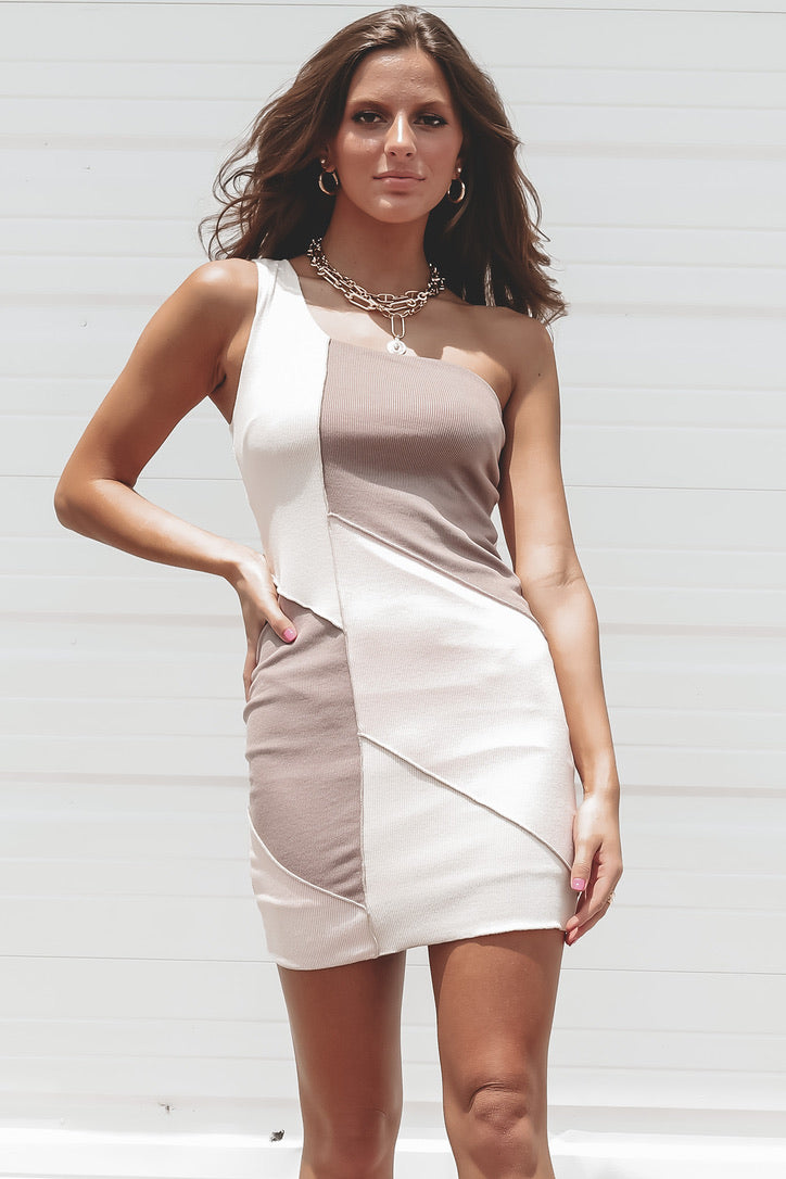Keep Calling Pink Colorblock Dress