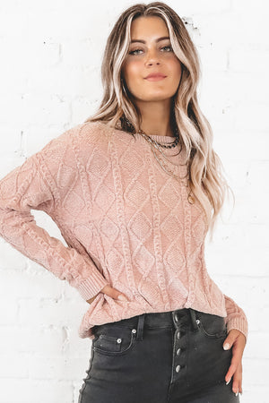 Live Your Life Rose Chenille Sweater