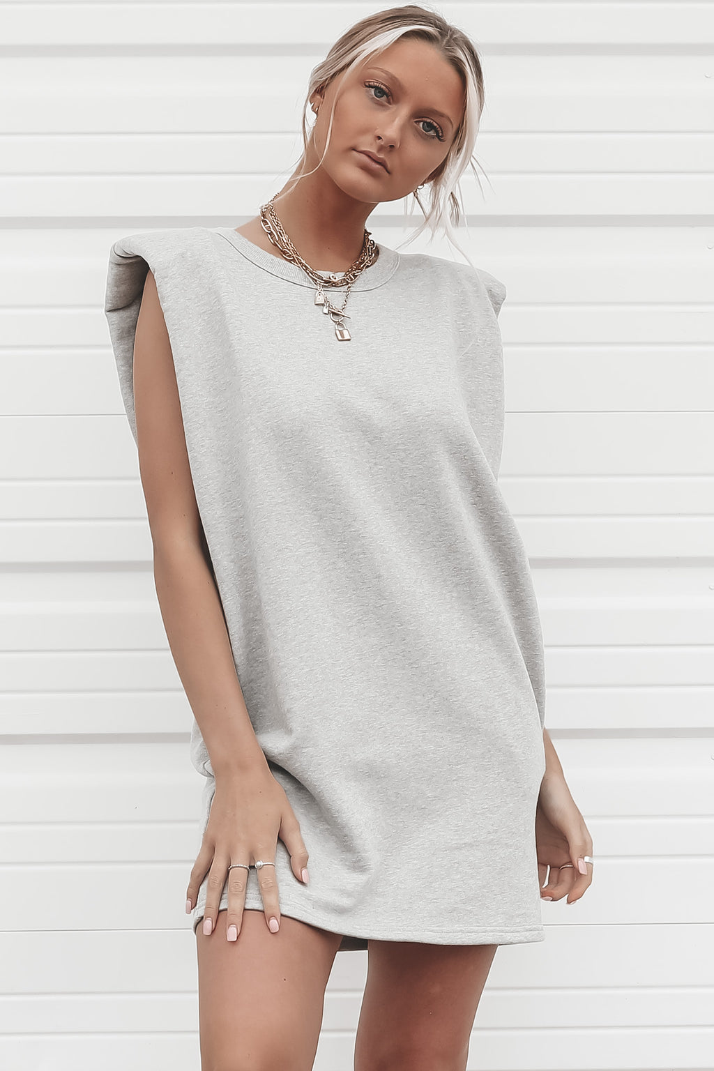 Girl Squad Gray Tank Dress