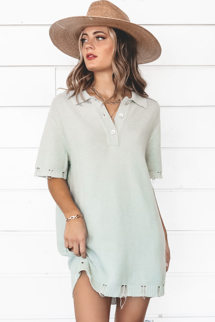 It's A Pistachio Problem Knit T-Shirt Dress