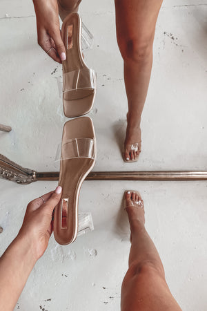 BILLINI Ultra Nude Clear Heels