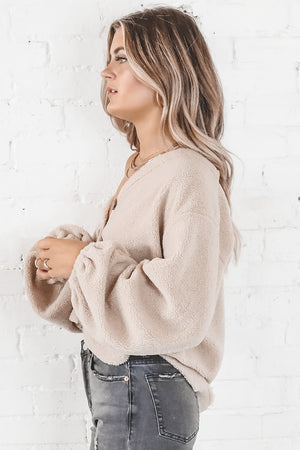 Honey Pie Taupe Button Up Cardigan