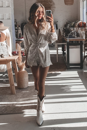 Knot On The Naughty List Glitter Romper
