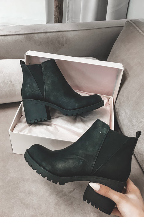 Lisbon Platform Leather Bootie