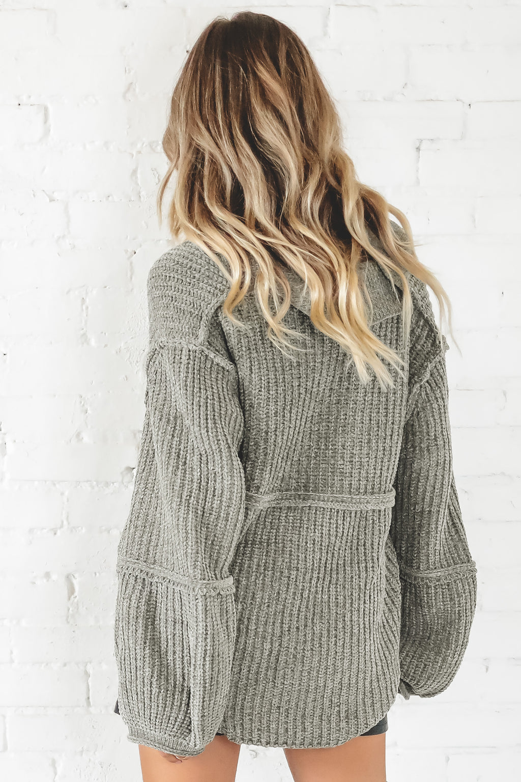 On Your Side Pistachio Chenille Sweater