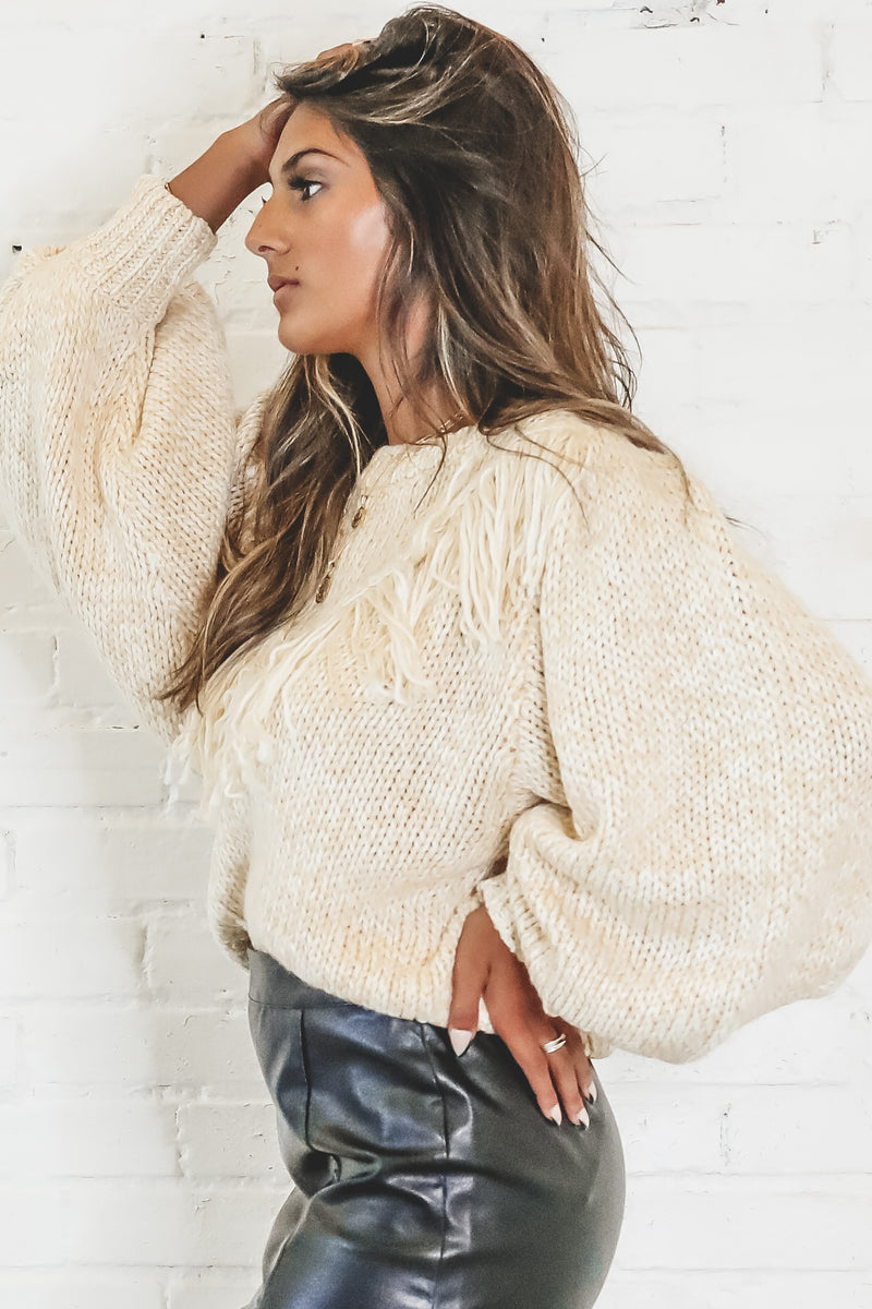 MINKPINK Rosalyn Fringing Jumper