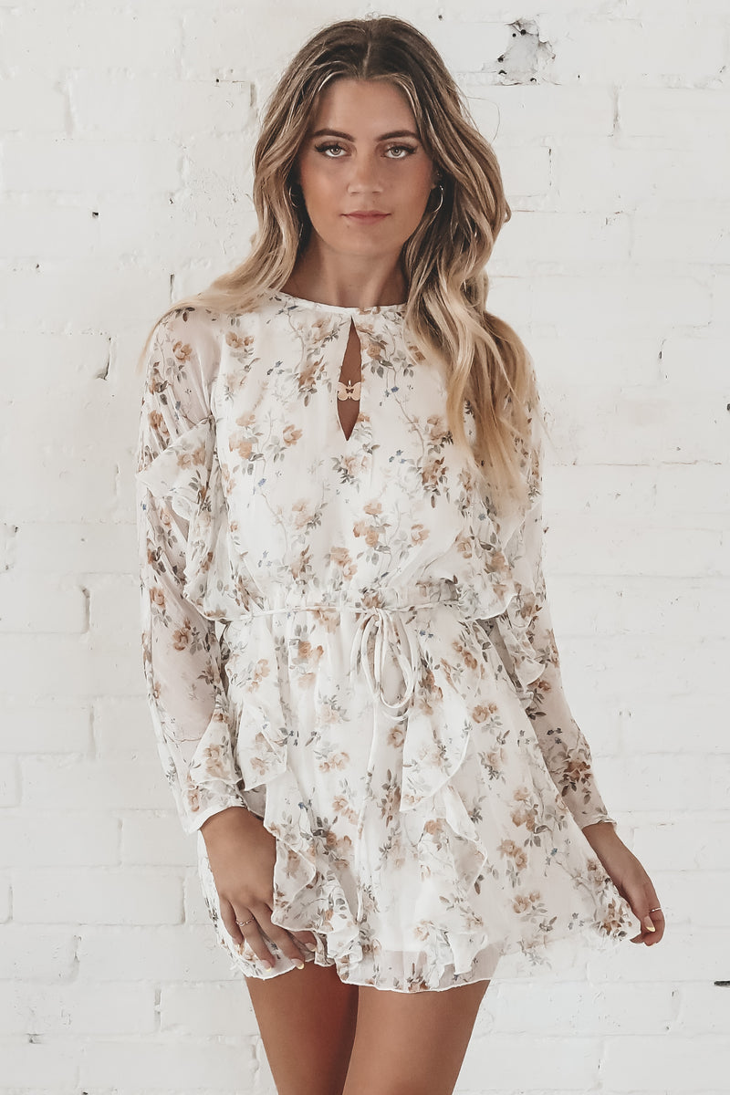Save It Ivory Ruffle Dress