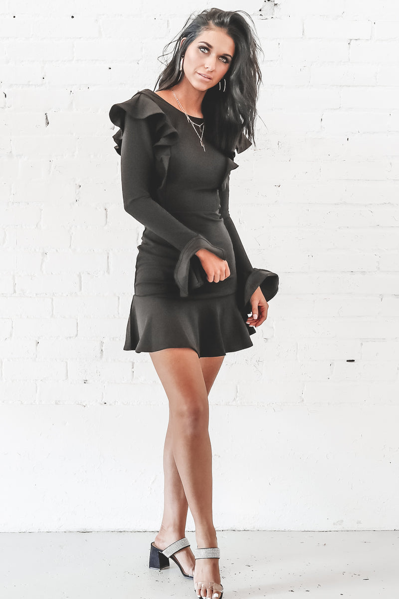 Glass Full Of Class Black Bodycon Dress