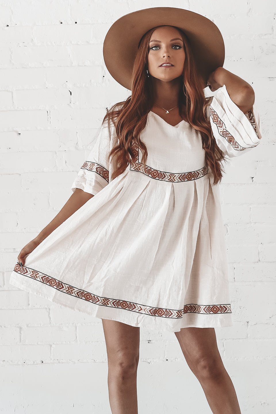Feelings For You Natural Babydoll Dress
