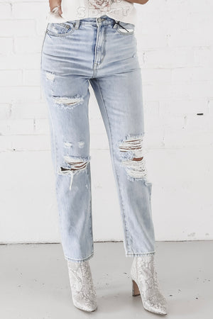 Chemistry Between Us Distressed Boyfriend Jeans