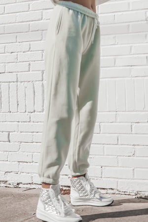 DAISY STREET Mint Embroidered Sun Jogger
