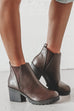 Smile And Wave Boys Brown Platform Leather Bootie