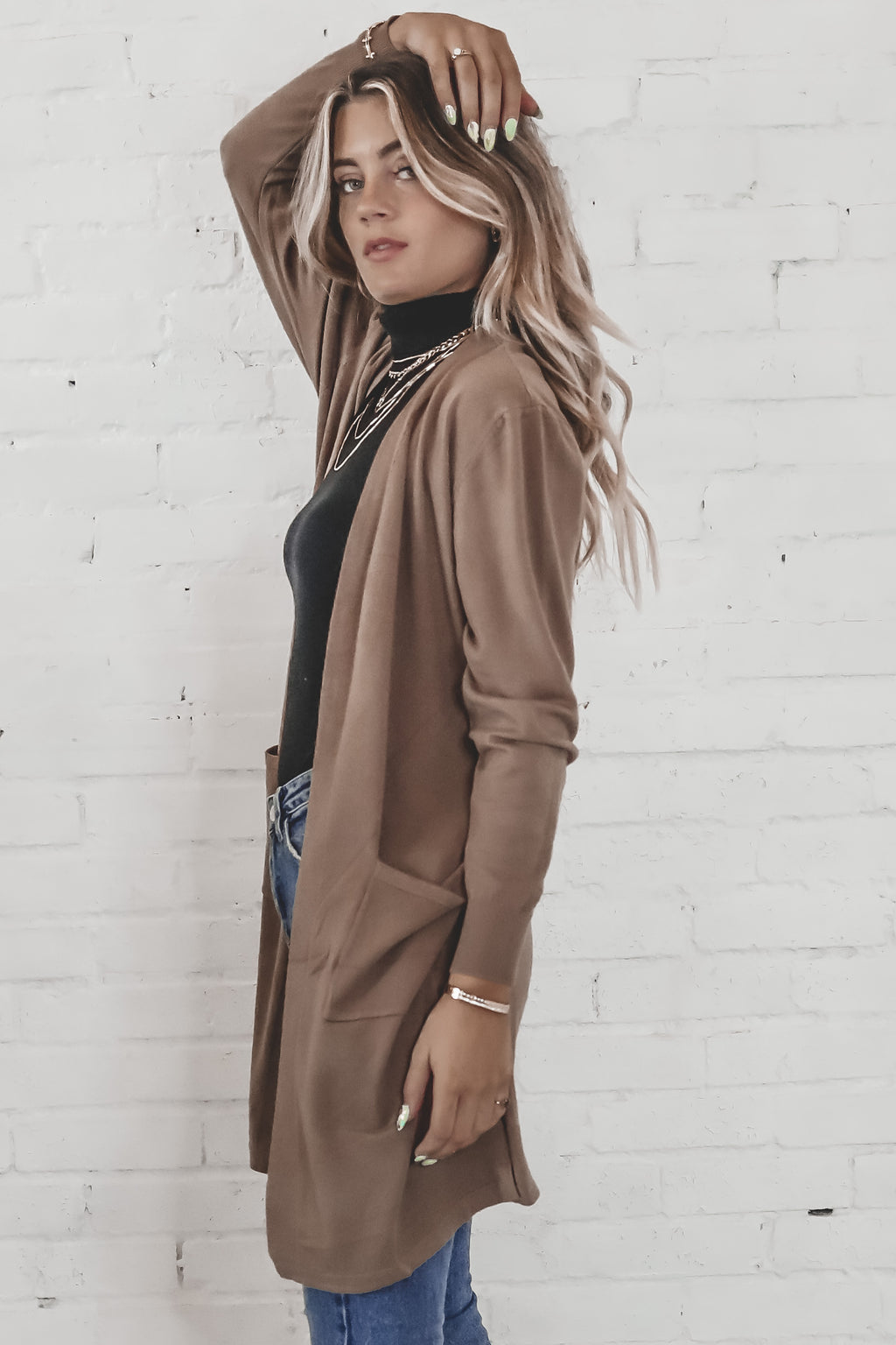 Write It On The Skyline Mocha Midi Cardigan