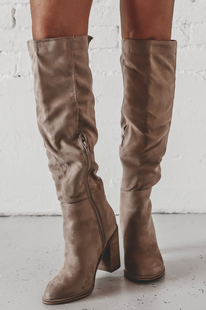 Can You Not Taupe Knee High Boots
