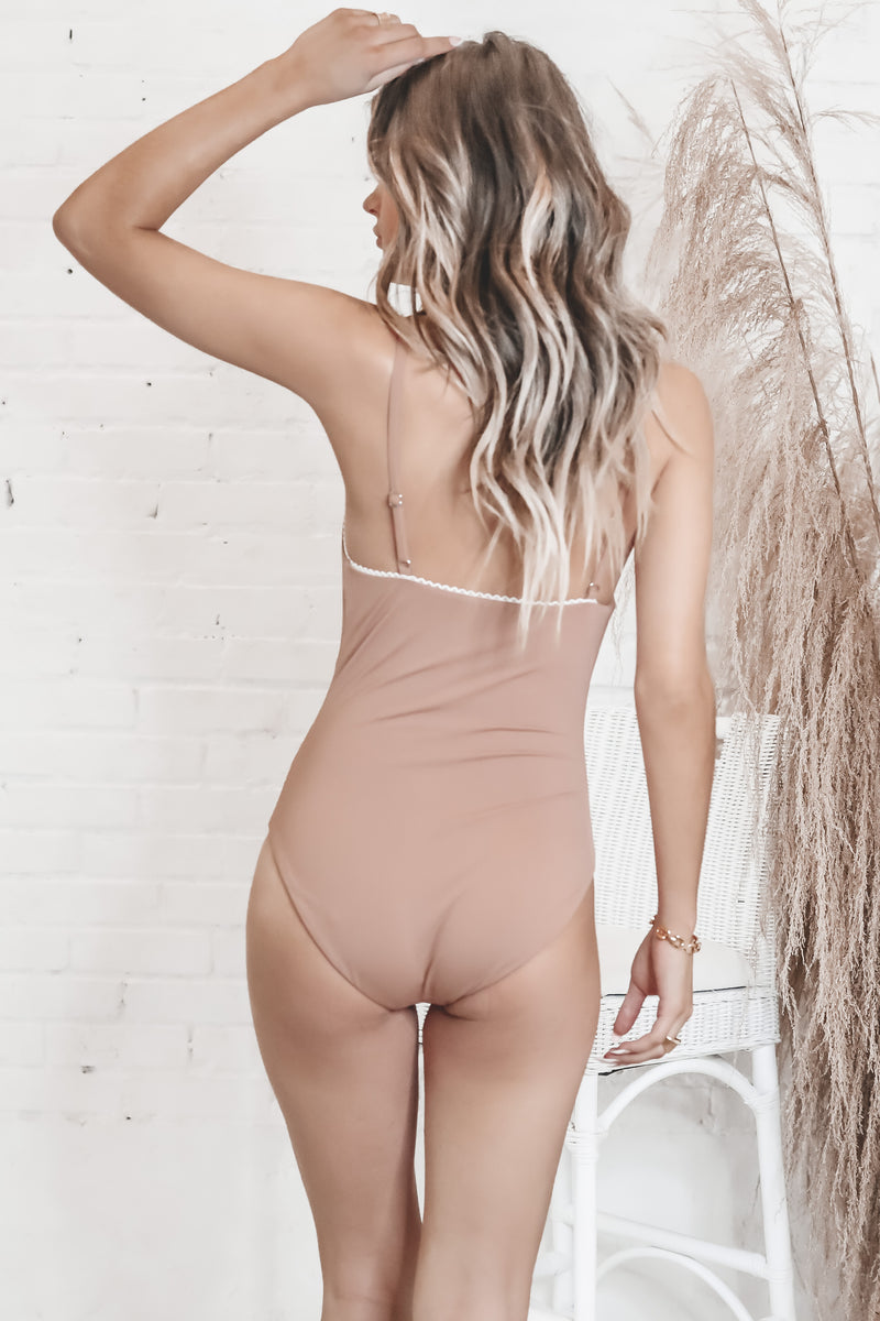 All The Feels Brown One Piece Swimsuit