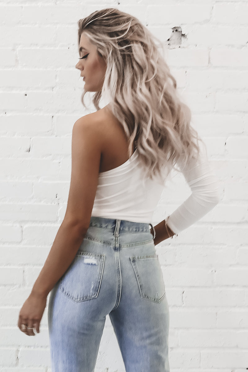 Say What I Want To Hear Ivory One Shoulder Top