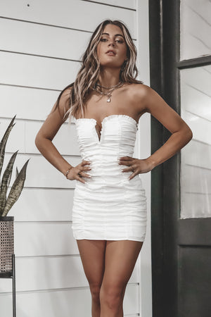 Would You Go With Me White Mini Dress
