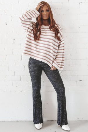 Paths Cross Pink Striped Chenille Sweater