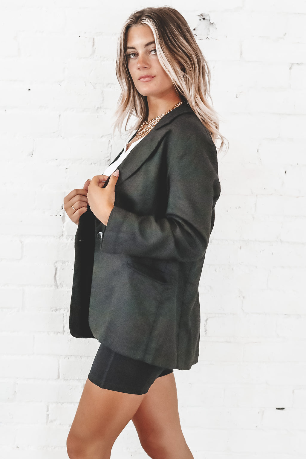 This Means Business Black Oversized Blazer