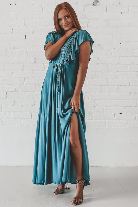 Suck Up Jade Maxi Dress