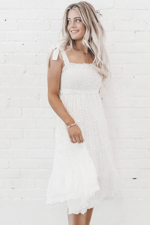Promise Me White Midi Dress