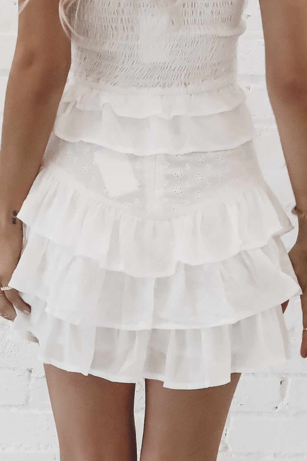 Lost In The Memories White Mini Skirt