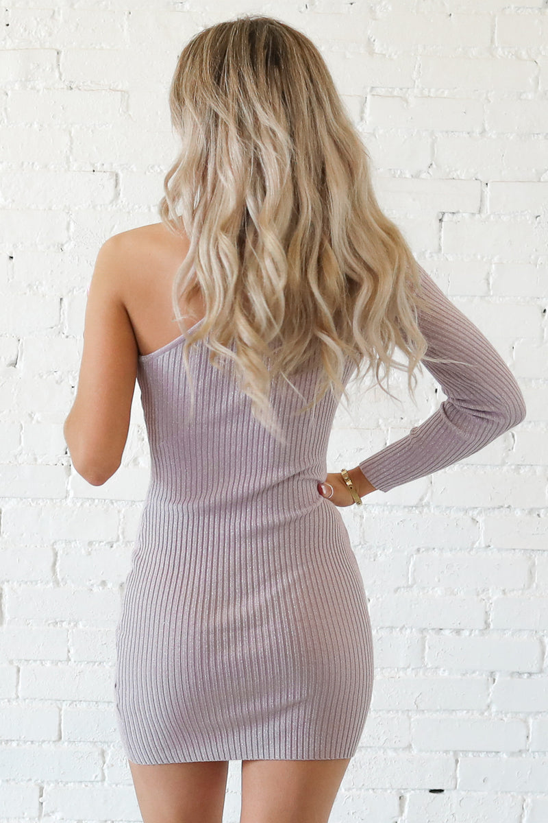 There You Glow Lavender One Shoulder Dress