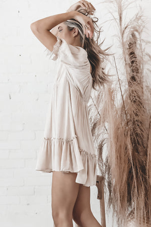 Leaving You Behind Cream Mini Dress